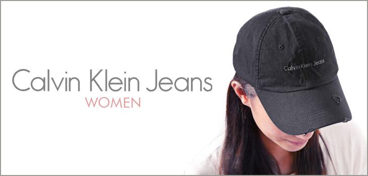 Calvin Klein カルバンクライン DESRRUCED WASHED DENIM レディース キャップ イメージ画像