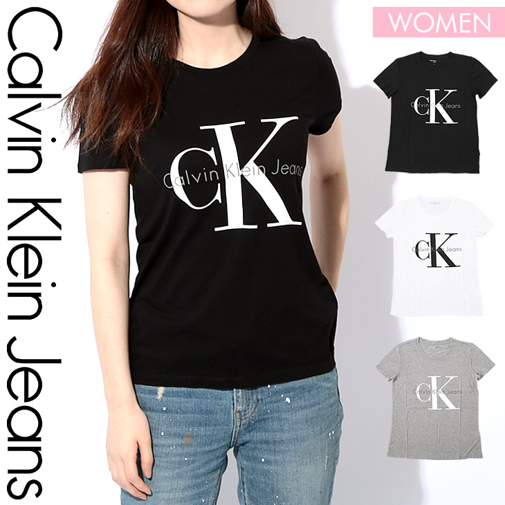 Calvin Klein カルバンクライン REISSUE BIG LOGO レディース クルーネック 半袖 Tシャツ メイン画像