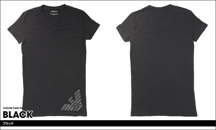 EMPORIO ARMANI エンポリオアルマーニ HEXAGON PRINTED BIG EAGLE 半袖 T-シャツ カラー画像