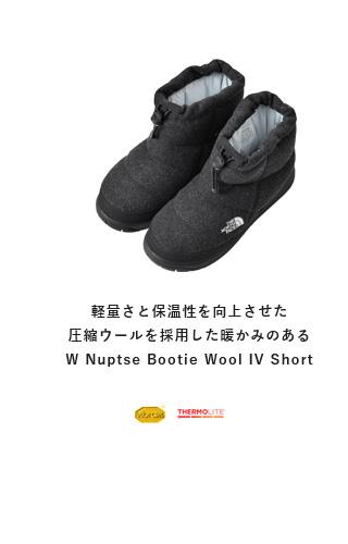 """THE NORTH FACE(ノースフェイス)<br>Wヌプシブーティーウール4ショート""""W Nuptse Bootie Wool 4 Short"""" nfw51879"""
