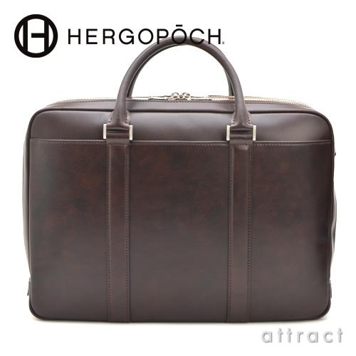 HERGOPOCH エルゴポック Waxed Leather 06 Series  Wマチ 2way ブリーフケース ショルダーストラップ付(06-BF-4)