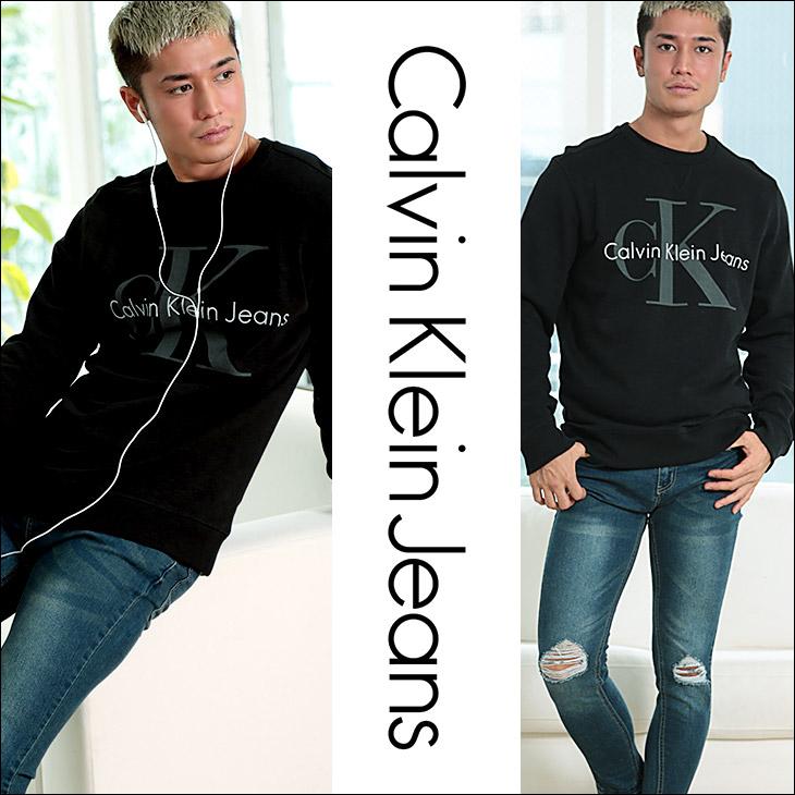 Calvin Klein カルバンクライン WASHED REISSUE メンズ スウェット トレーナー メイン画像