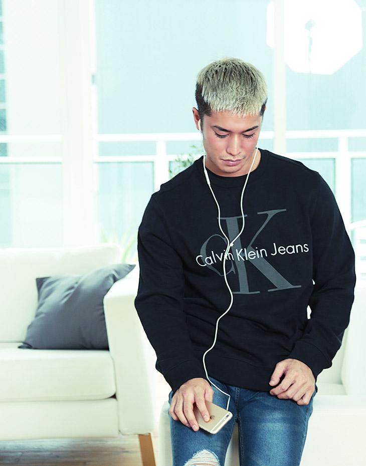 Calvin Klein カルバンクライン WASHED REISSUE メンズ スウェット トレーナー イメージ画像