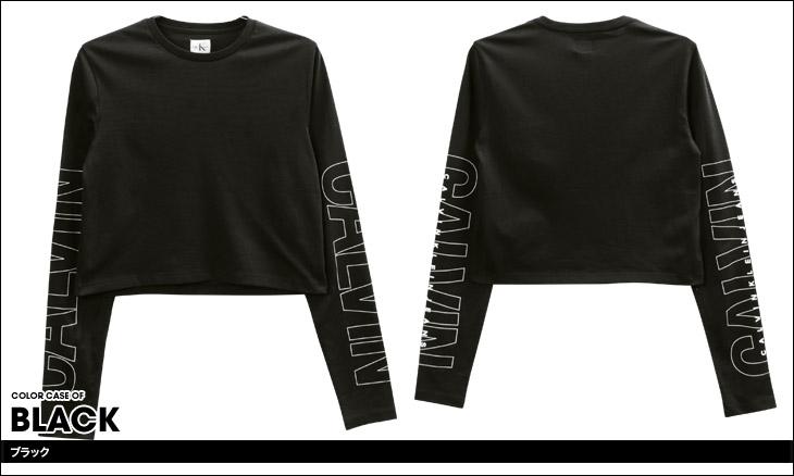 Calvin Klein カルバンクライン SLEEVE LOGO レディース ロンT カラー画像