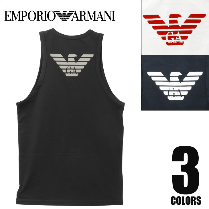 EMPORIO ARMANI エンポリオアルマーニ EAGLE STRETCH COTTON メンズ タンクトップ メイン画像