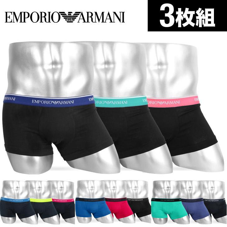 EMPORIO ARMANI エンポリオアルマーニ 【3枚組セット】FASHION STRETCH メンズ ローライズボクサーパンツ メイン画像