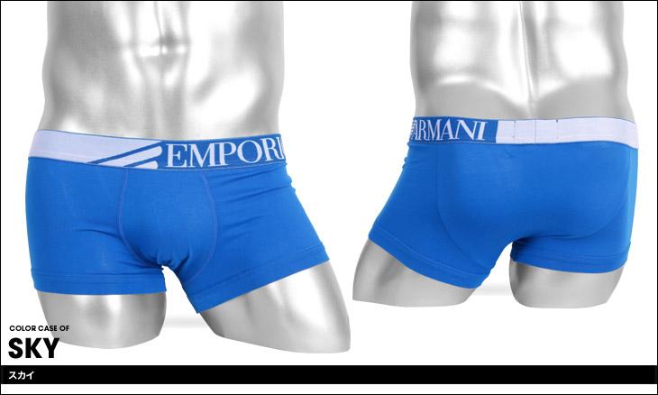 EMPORIO ARMANI エンポリオアルマーニ COLORED BASIC STRIPED LOGO BAND メンズ ローライズボクサーパンツ カラー画像