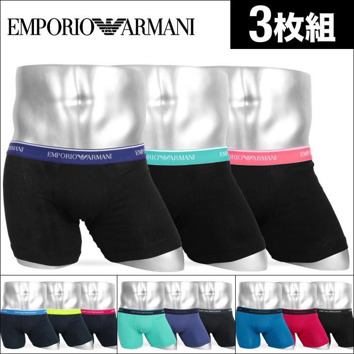 EMPORIO ARMANI エンポリオアルマーニ 【3枚組セット】3PACK BOXER BRIFE メンズ ボクサーパンツ メイン画像