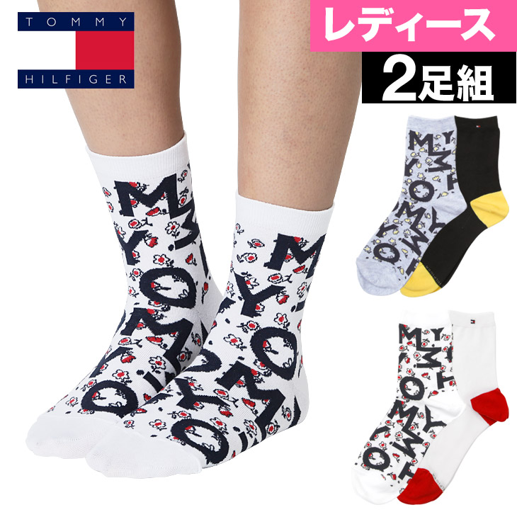 40764760bd5 Class two pieces of TOMMY HILFIGER  トミーヒルフィガー socks short socks Lady s  socks whole pattern Floral print logo brand logos birthday present she  woman ...