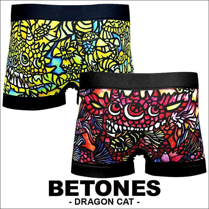 BETONES ビトーンズ DRAGON CAT メンズ ボクサーパンツ メイン画像